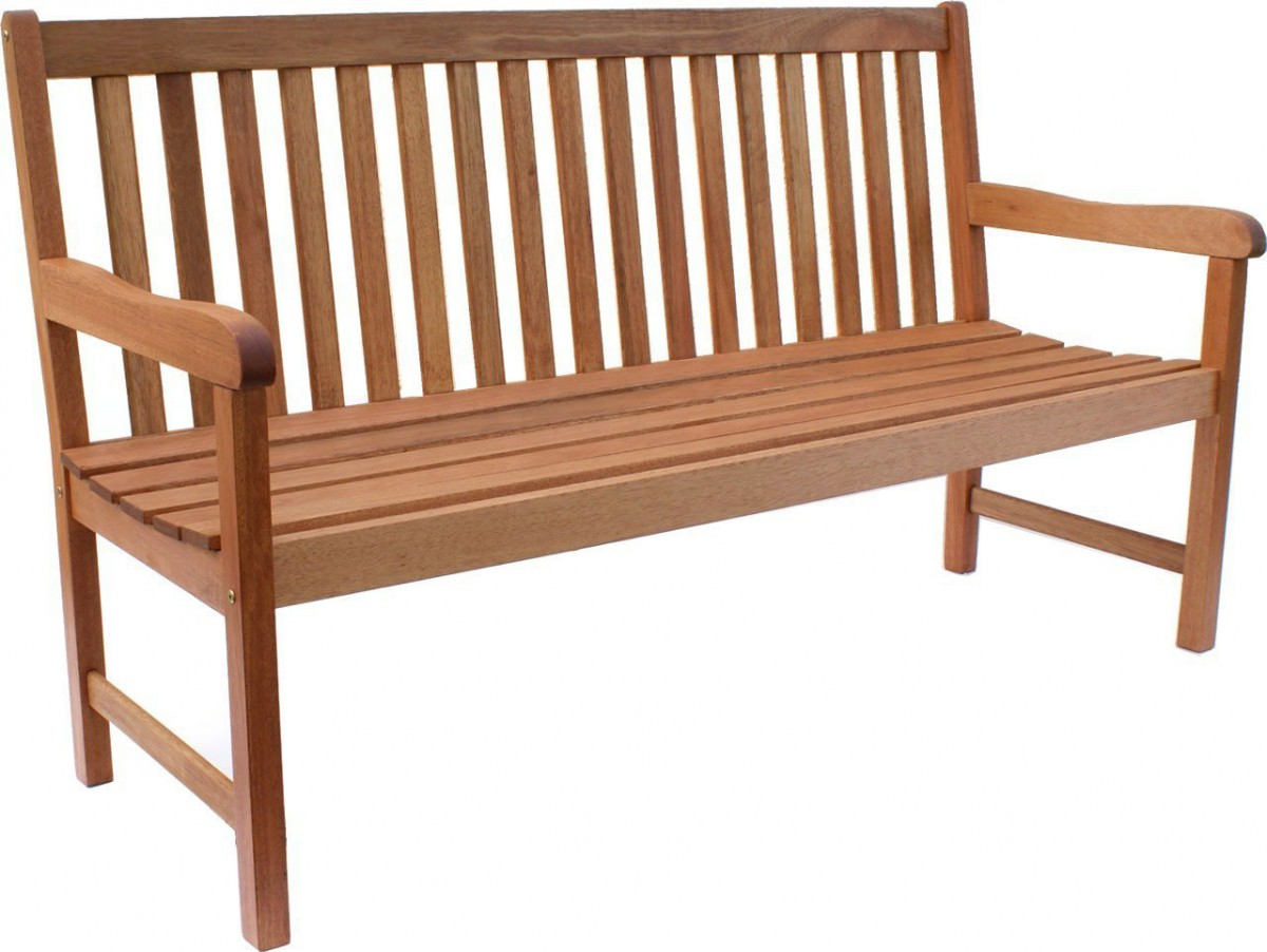 Amazonia Milano Eucalyptus Outdoor Wood Bench