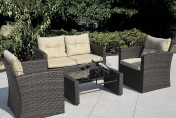 Giantex 4pc Wicker Sofa Outdoor Patio Furniture Set