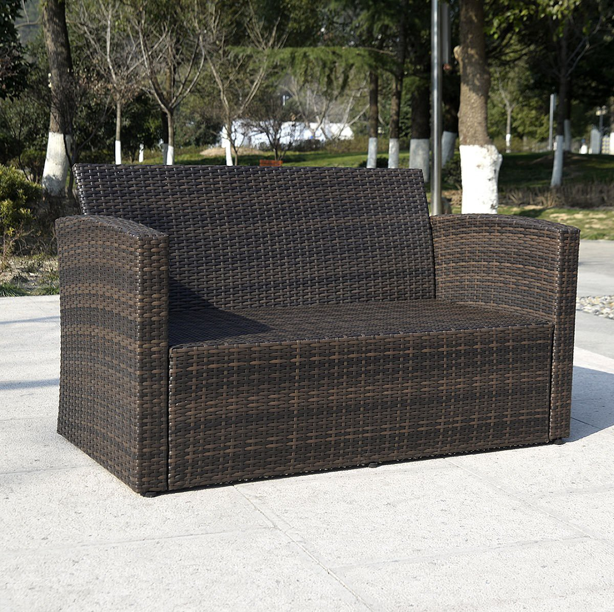 rattan sofa outdoor pc outdoor patio sofa set sectional. Black Bedroom Furniture Sets. Home Design Ideas