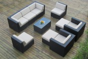 Ohana Collection 10pc Wicker Outdoor Sectional Sofa Set