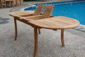 Grade-A Teak 94′ Wood Oval Outdoor Dining Table