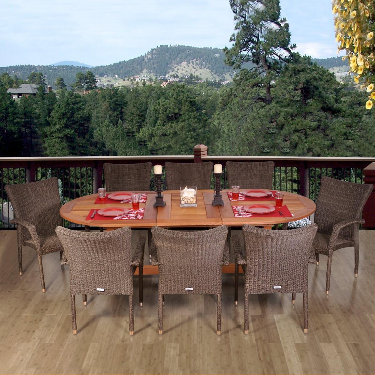 Amazonia Renaissance 9 Piece Patio Dining Set