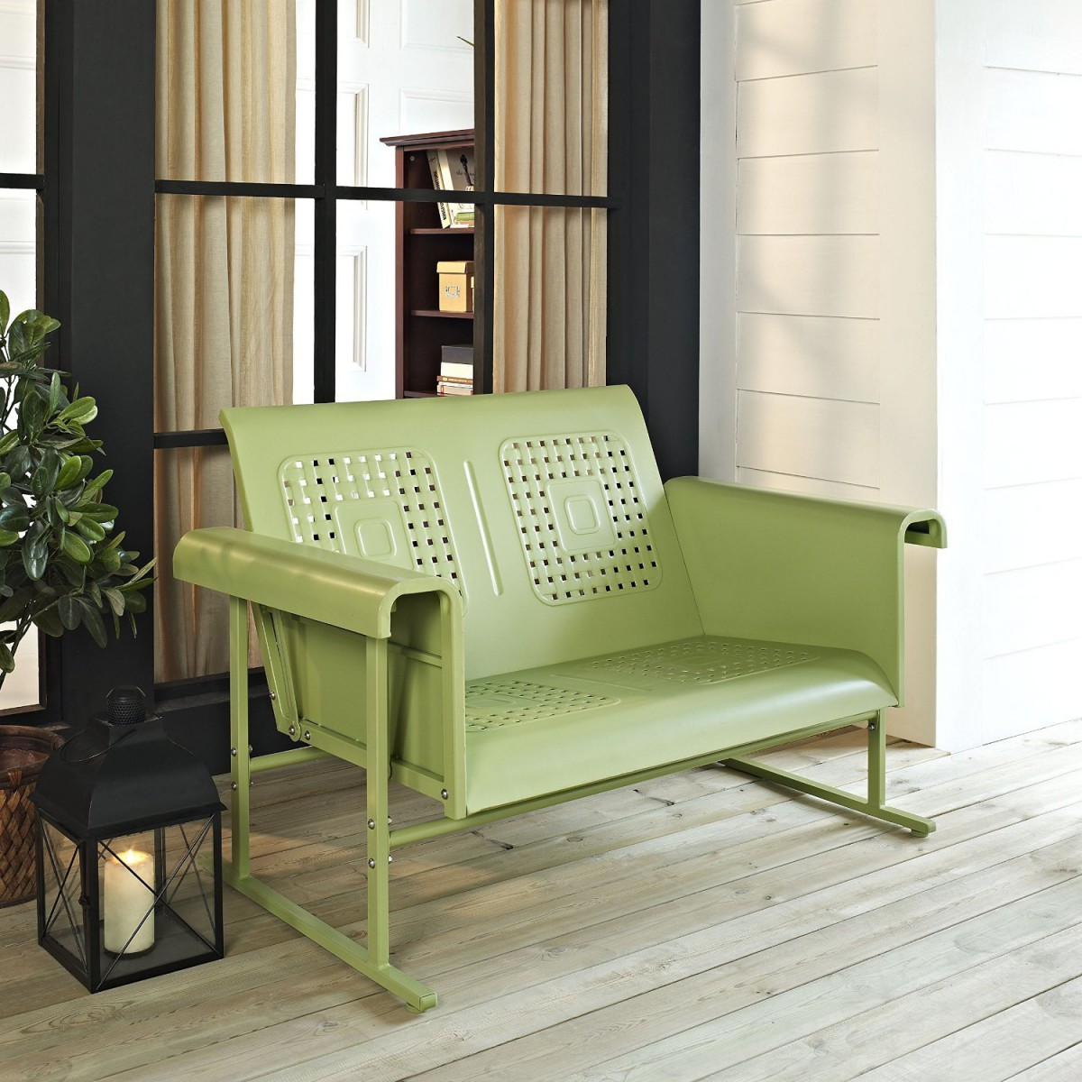 Crosley Metal Outdoor Glider Bench Loveseat