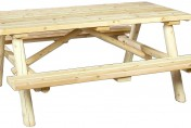 Cedarlooks Rustic Log Cedar Wood Picnic Table Bench