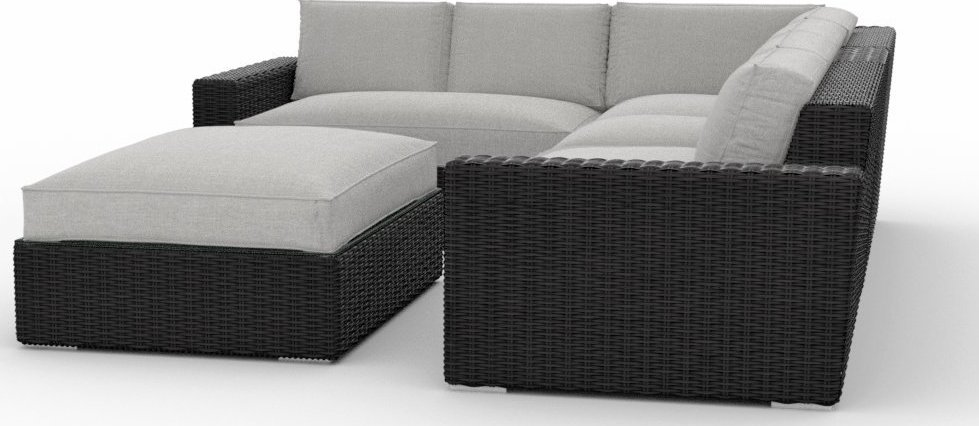 Toja Patio Furniture Turo 5 Piece Outdoor Sectional Sofa Set With Sunbrella  Cushions Part 77