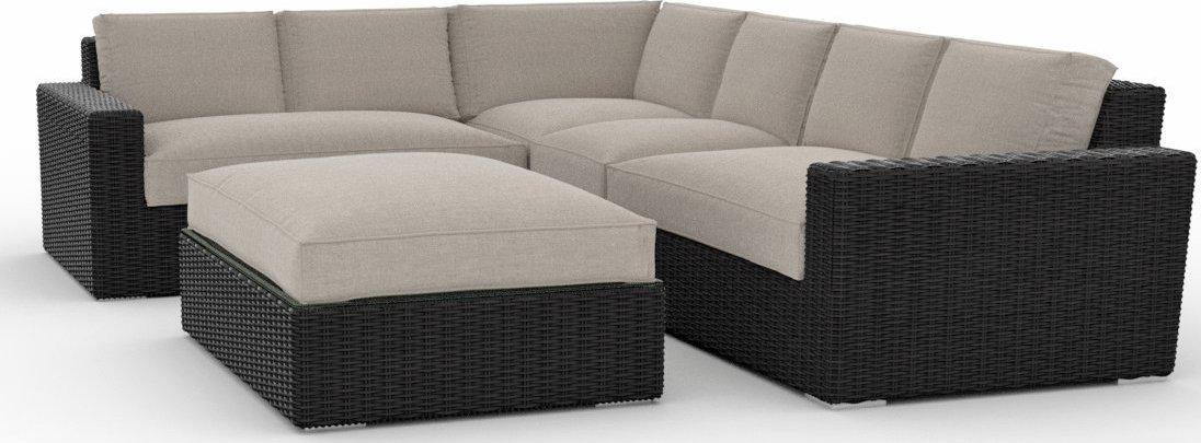 Toja Patio Furniture Turo 5 Piece Outdoor Sectional Sofa Set with Sunbrella Cushions