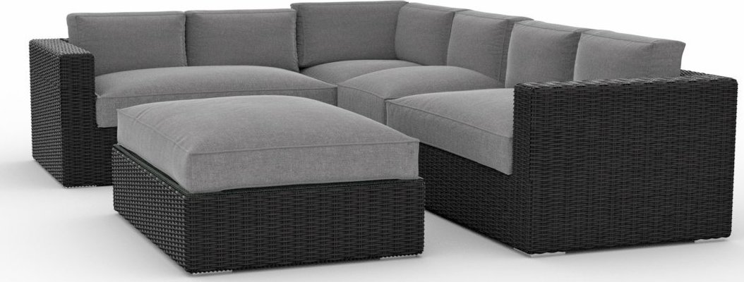Toja Patio Furniture Yorkville 5 Piece Outdoor Sectional