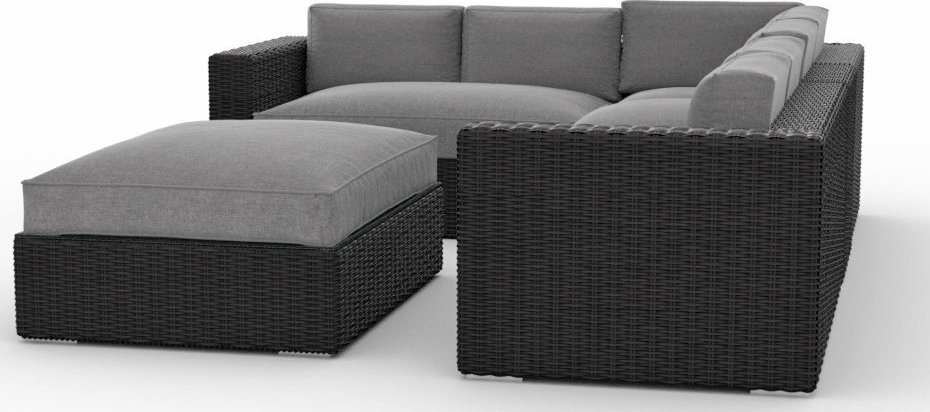 Toja Patio Furniture Yorkville 5 Piece Outdoor Sectional Sofa Set with Sunbrella Cushions
