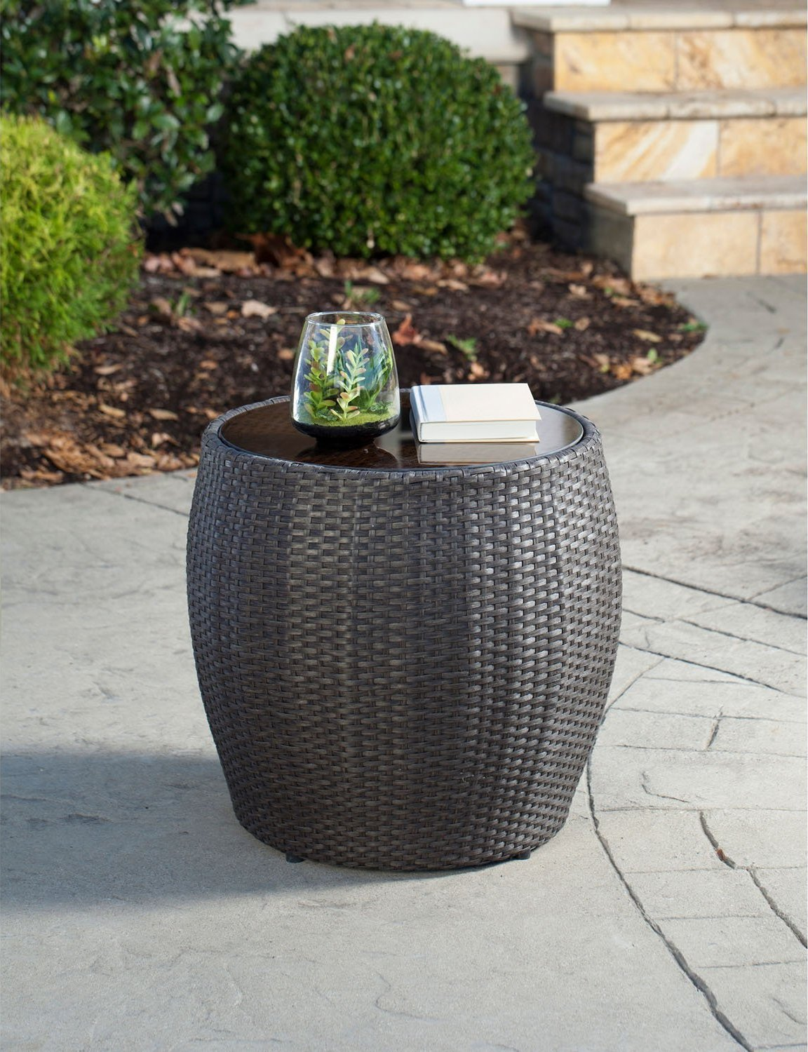 Hanover Gramercy Outdoor Chaise Lounge Chair And Table Set