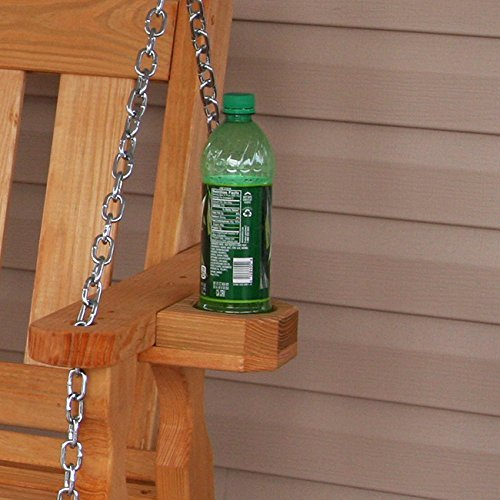 Amish Mission Style 5ft Outdoor Wooden Porch Swing Set w/ Cupholders