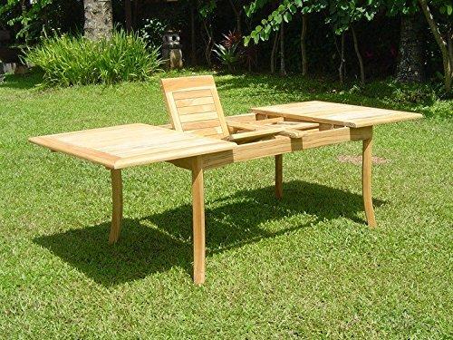 WholesaleTeak 7 Piece Grade-A Teak Dining Set with 94 Inch Double Extension Table