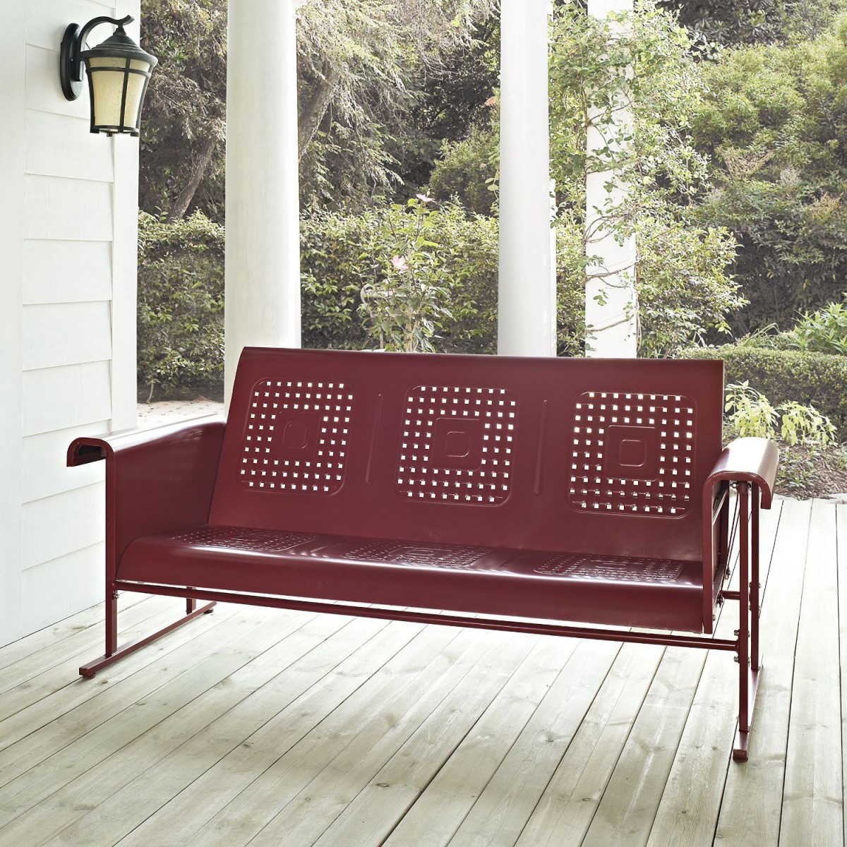 Crosley Metal Outdoor Glider Bench Sofa