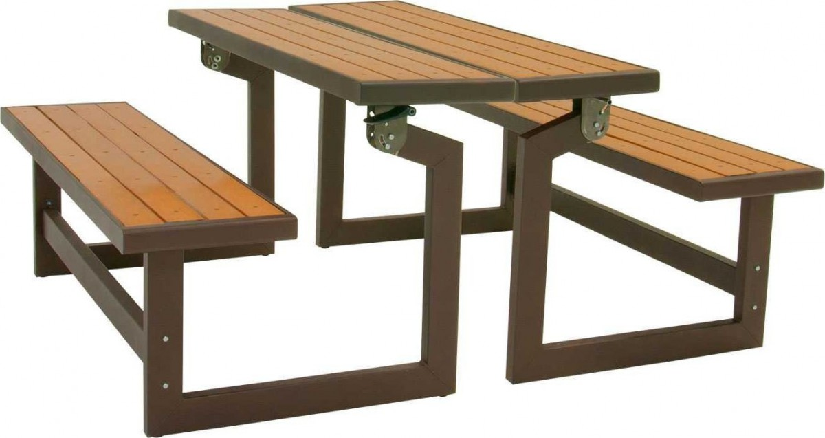 Lifetime Convertible Picnic Table Bench - Lifetime Convertible Picnic Table Bench - Patio Table