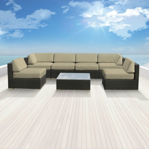 Luxxella Bella 7pc Wicker Outdoor Sectional Sofa Set