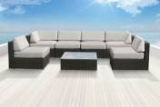 Luxxella Bella 7pc Wicker Outdoor Sectional Sofa Set