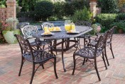 Home Styles Biscayne 7-Piece Cast Aluminum Outdoor Dining Set