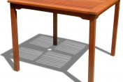 Vifah Ibiza Stacking Square Outdoor Dining Table