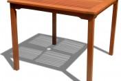Vifah Ibiza Stacking Square Outdoor Dining Table