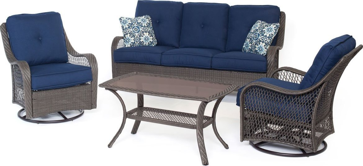 Hanover Orleans 4 Piece Outdoor Conversation Set With