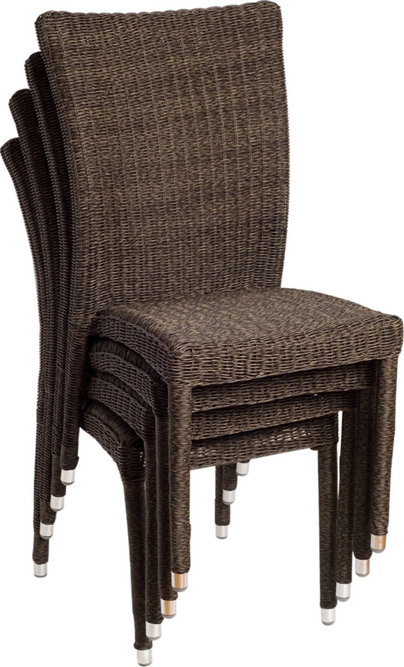 Tuscany 9 Piece Dining Set With Stackable Wicker Chairs