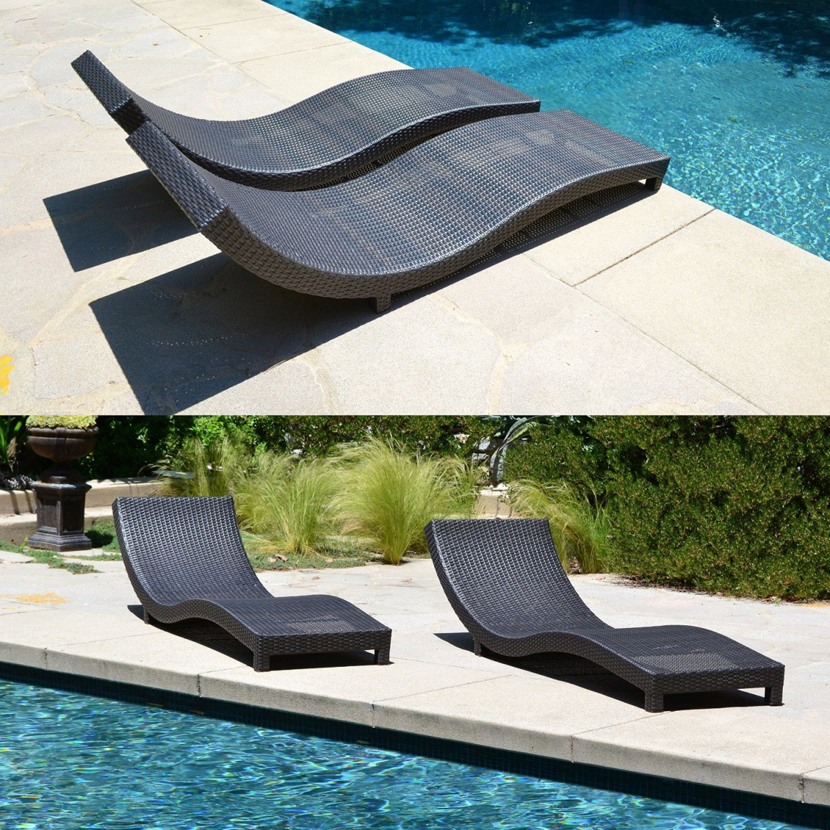 Coast modern living outdoor chaise lounge chairs w cushions for Chaise cushions outdoor