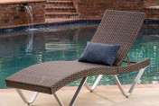 Manuela Ergonomic Wicker Outdoor Chaise Lounge Chair
