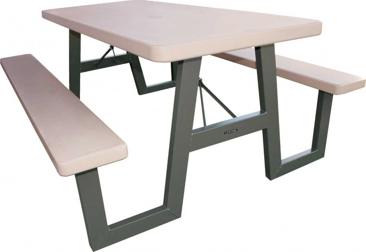 Lifetime 60030 W-Frame 6 Foot Folding Picnic Table Bench