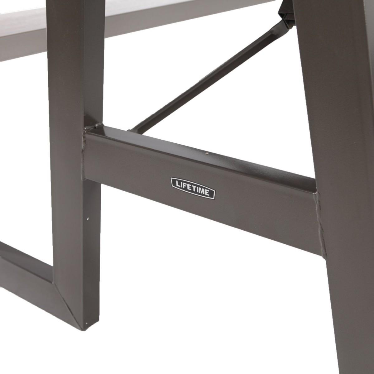 Lifetime 60030 W-Frame 6 Foot Folding Picnic Table Bench