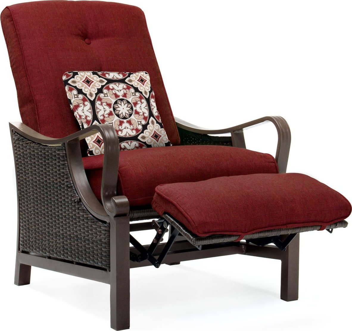 ventura luxury resin wicker outdoor recliner chair at