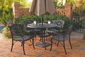 Home Styles Biscayne 5pc 48″ Outdoor Patio Dining Set w/ Black Finish