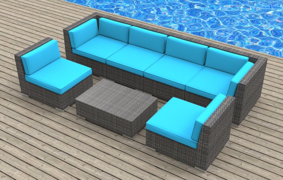 Urban Furnishing OAHU 7pc Outdoor Sectional Sofa Set
