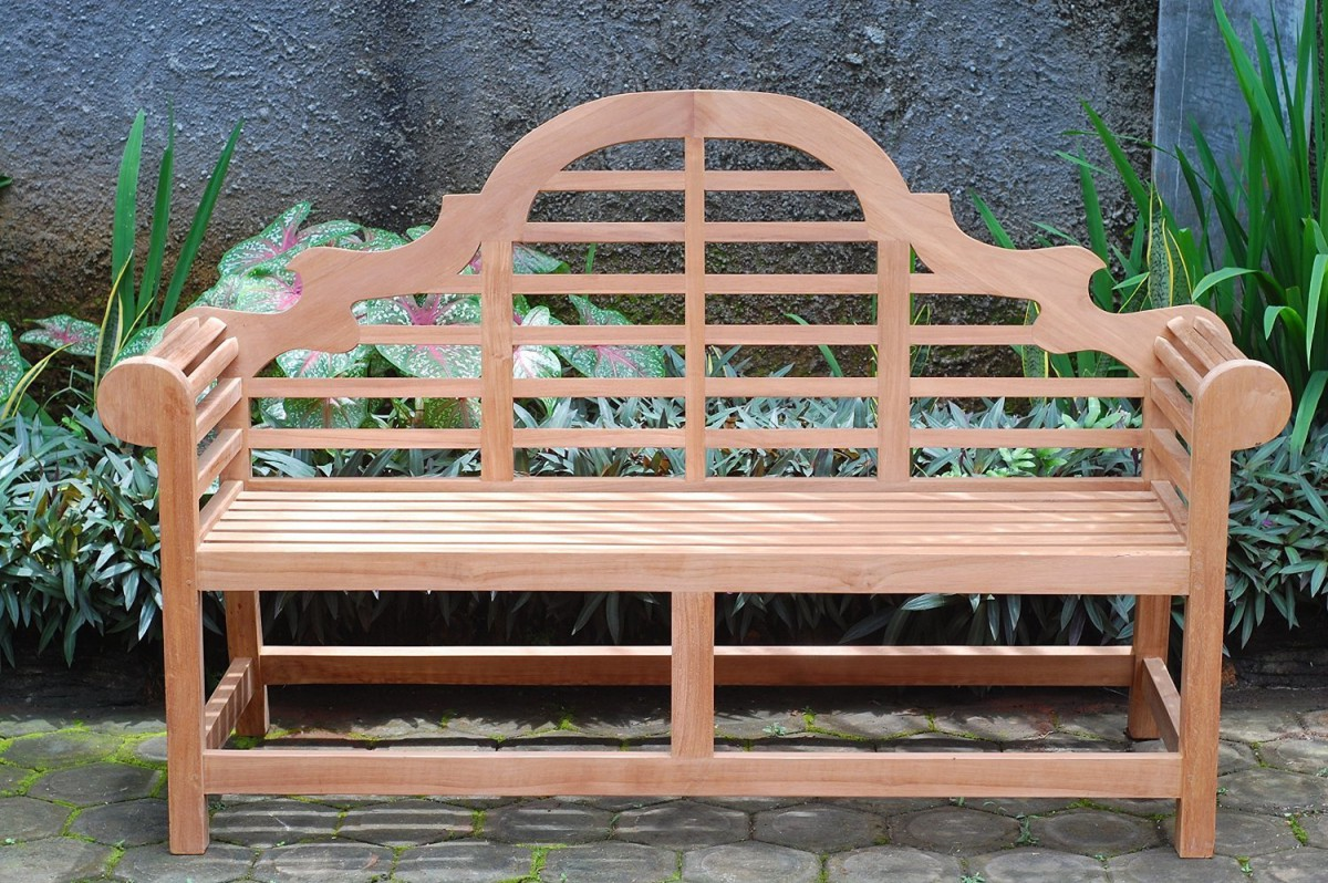 Lutyens Bench in Grade A Teak by Windsor Teak Furniture