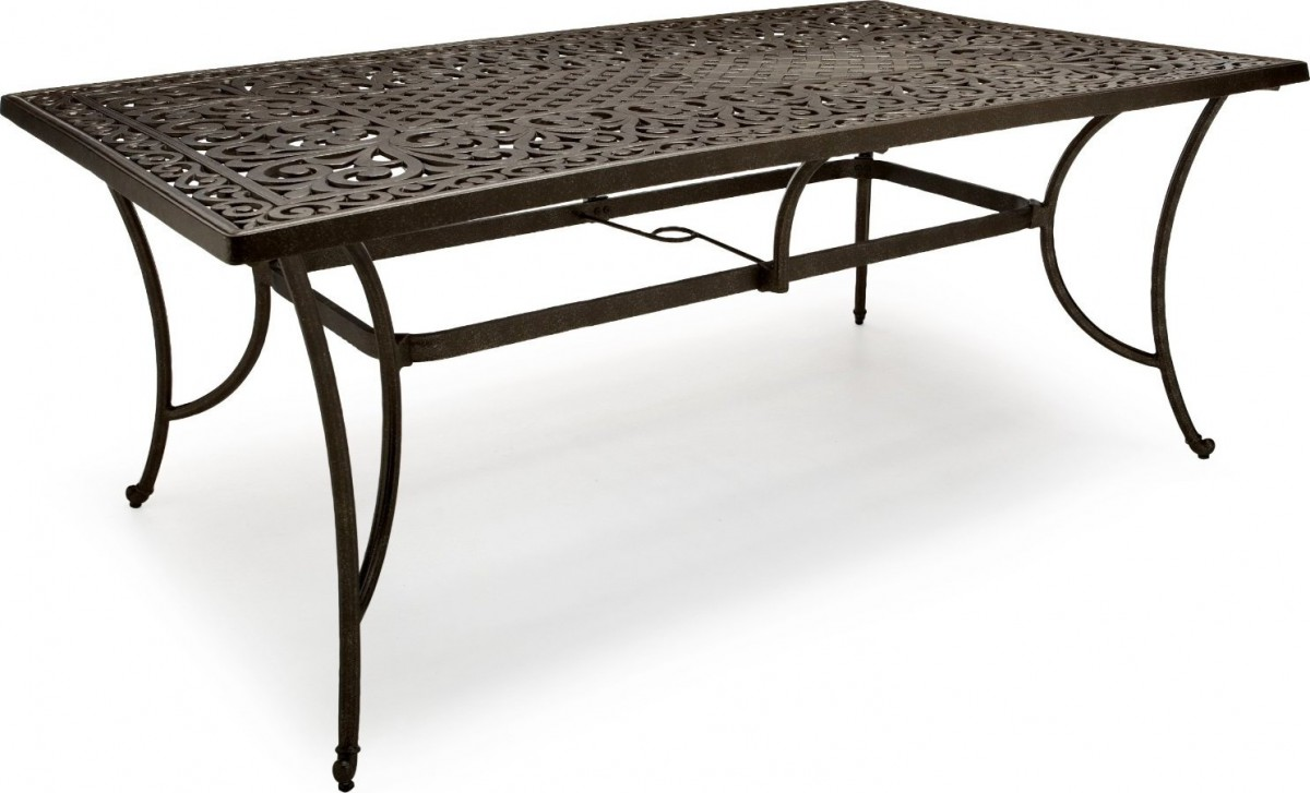 Strathwood St Thomas Cast Aluminum Rectangular Patio Table