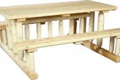 Cedarlooks Log Park Style Cedar Wood Picnic Table Bench