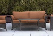Hanover Strathmere Allure 4 Piece Wicker Outdoor Conversation Set
