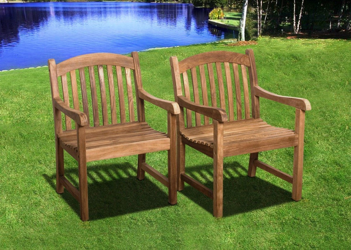 Amazonia Teak Newcastle 9pc Teak Outdoor Patio Dining Set