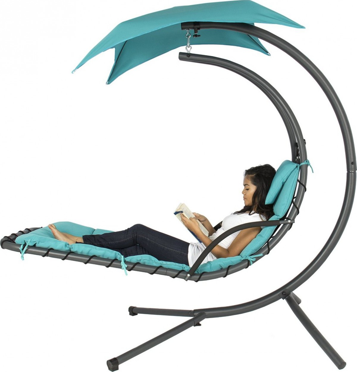 Best Choice Products Porch Swing Hanging Hammock Chair with Stand