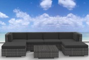 Urban Furnishing MAUI 7pc Outdoor Sectional Sofa Set