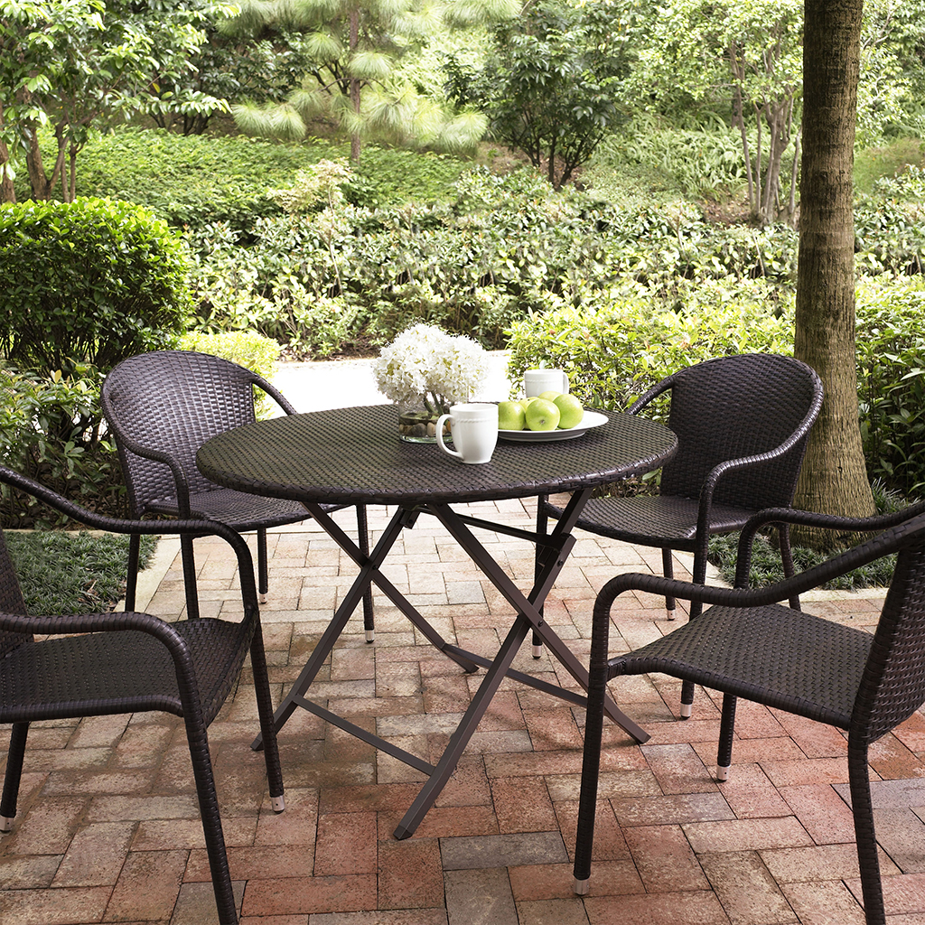Crosley Palm Harbor 5 Piece Outdoor Dining Set w  : crosley palm harbor 5 piece outdoor dining set w stackable chairs 2 from www.patiotable.co size 1024 x 1024 jpeg 1322kB