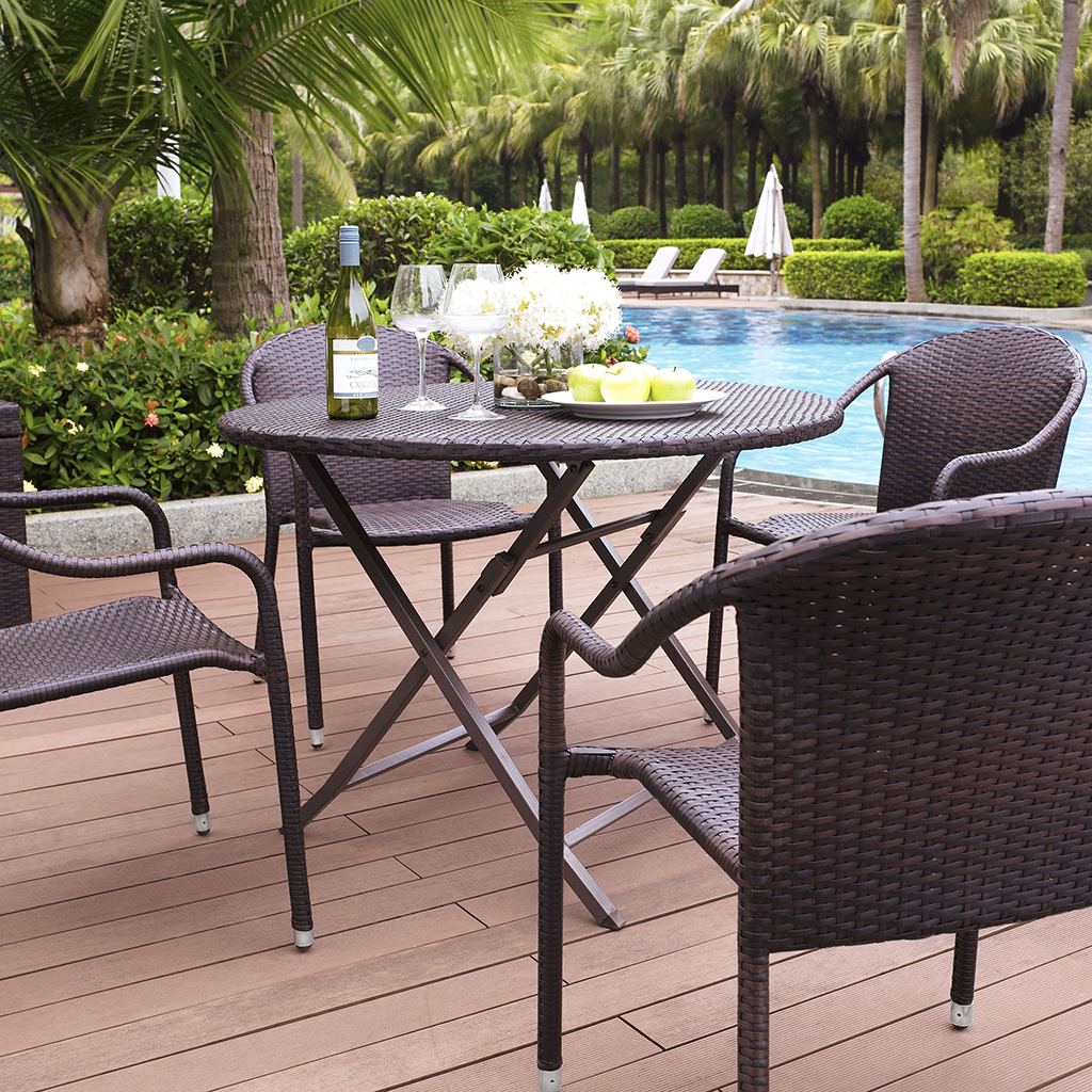 Crosley Palm Harbor 5 Piece Outdoor Dining Set w  : crosley palm harbor 5 piece outdoor dining set w stackable chairs 3 from www.patiotable.co size 1024 x 1024 jpeg 1036kB
