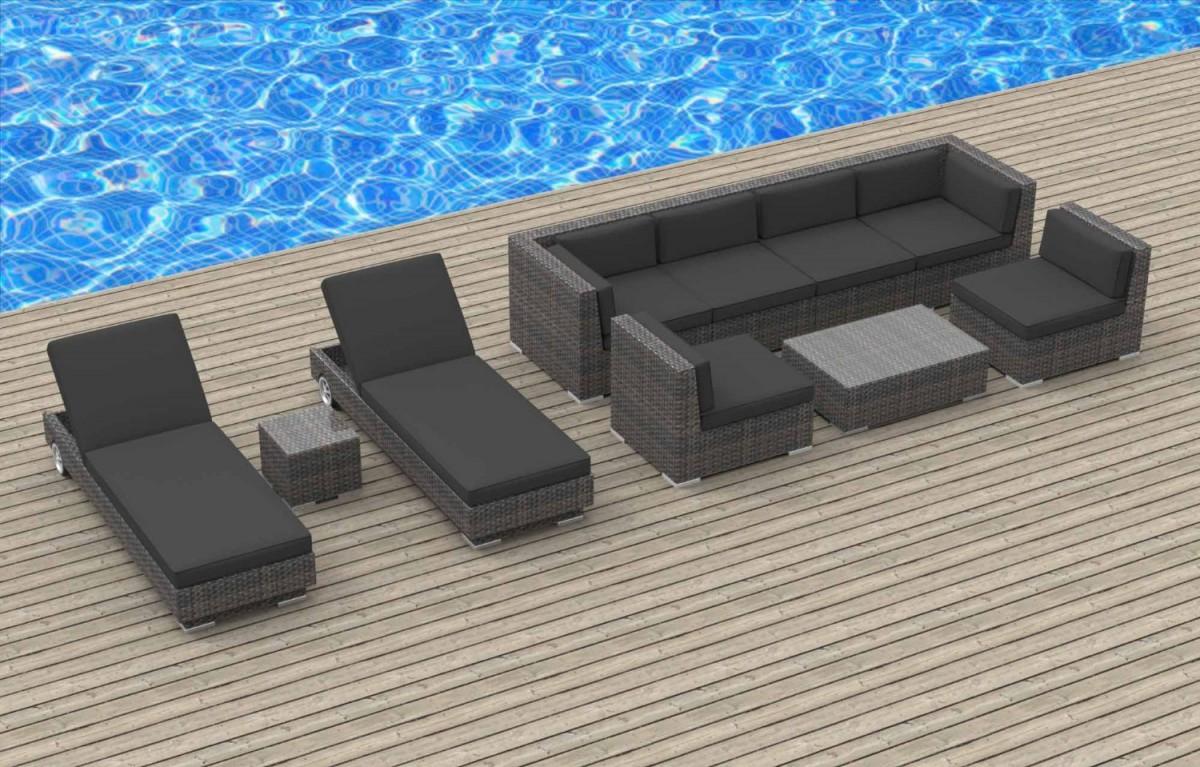 Urban Furnishing IBIZA 10pc Outdoor Sectional Sofa Set