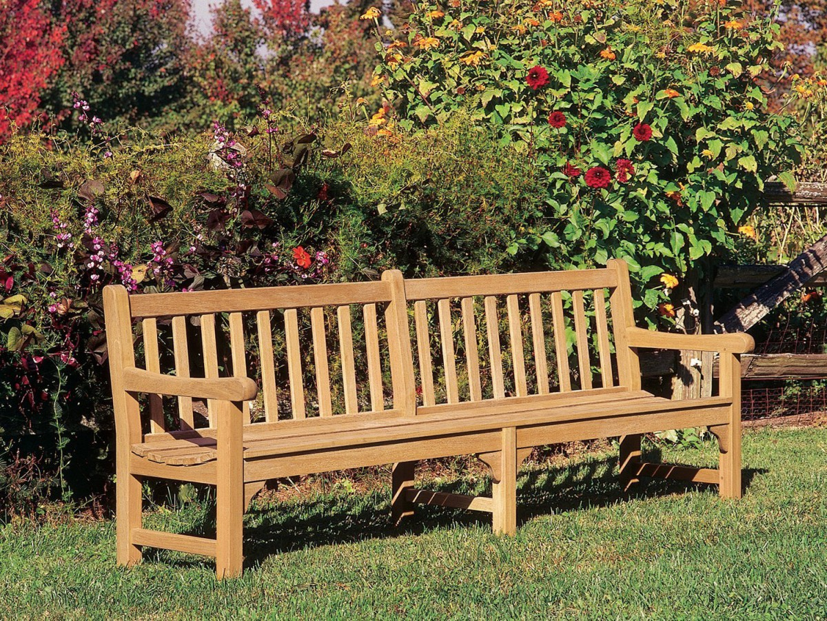 Oxford Garden Essex Curved Shorea Outdoor Teak Bench