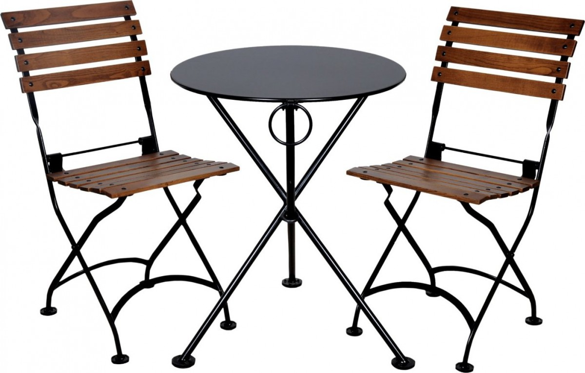 Furniture designhouse folding french bistro chairs for Outside balcony furniture