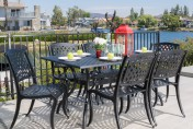 Marietta Cast Aluminum 7 Piece Outdoor Dining Set
