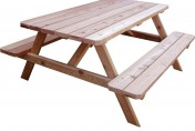 Outdoor Living Today 6 Foot Red Cedar Picnic Table Bench