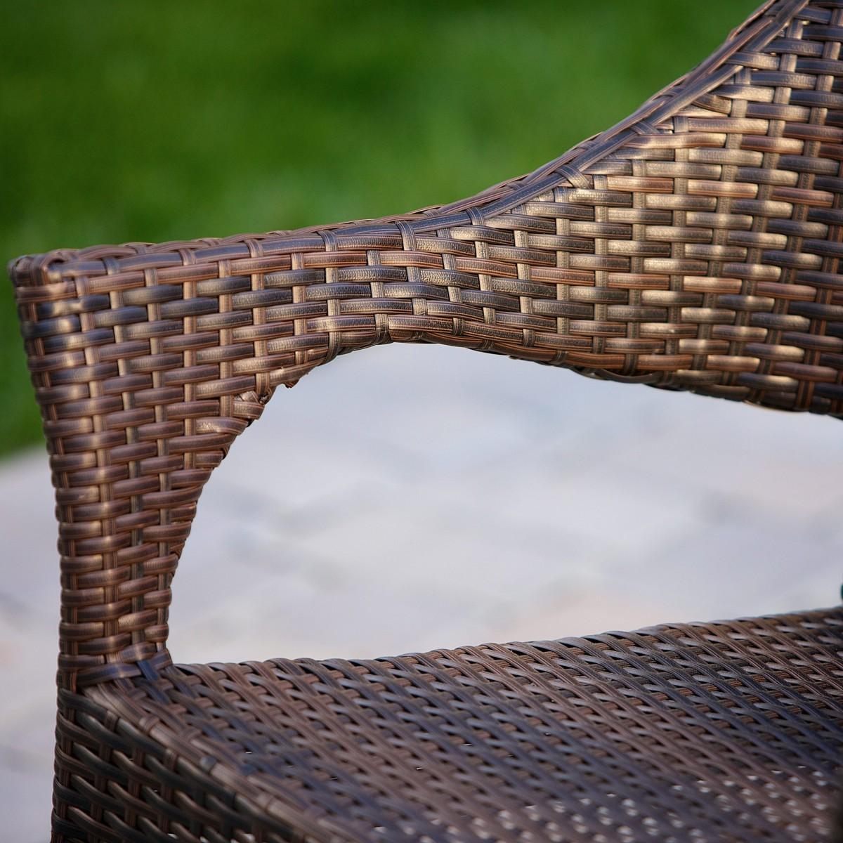 Del Mar 2 Piece Outdoor Stackable Wicker Chairs