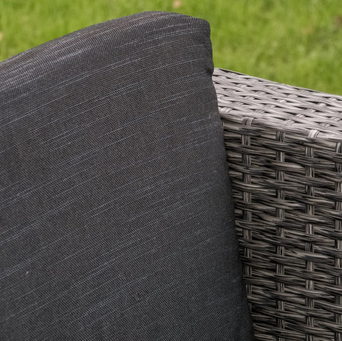 Venice 4 Piece Grey/Black Wicker Outdoor Sectional Sofa Set