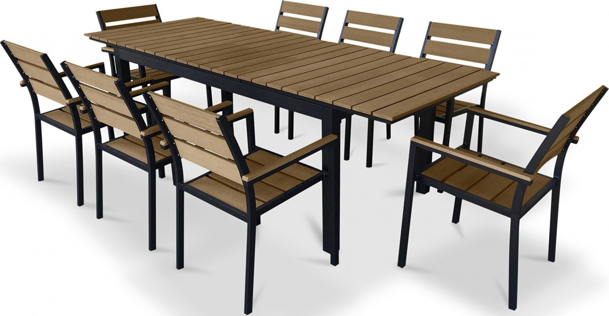 Urban Furnishing 9 Piece Polywood Outdoor Patio Dining Set