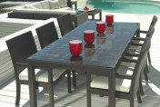 Mango Home Outdoor Wicker 7 Piece Patio Dining Set w/ Stackable Chairs