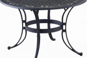 Home Styles Biscayne Round Outdoor Dining Table, Black